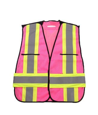Pink Safetymaster brand safety vests for woman