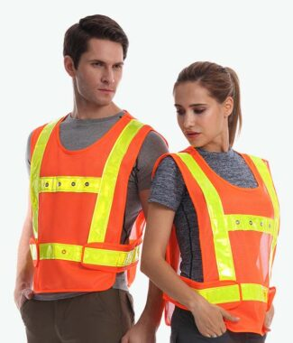 Safetymaster brand Flashing safety vests wholesale